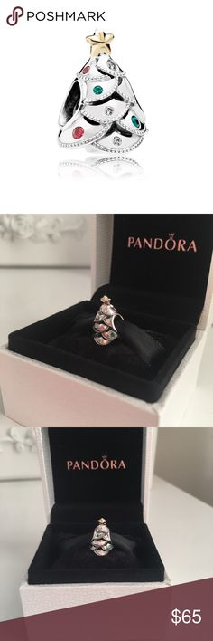 "Pandora ""Festive Tree"" Charm with box BRAND NEW WITH BOX! 100% authentic. Deck the halls in style with this enchanting tree charm! Embellished with a shiny 14K gold star and colorful adornments of festive garlands, this sterling silver charm beautifully embodies the season of joy. ❤️ Pandora Jewelry Bracelets"