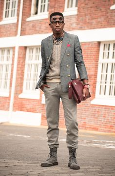 Cape Town Men's Fashion. REALLY like the boots, even if I would pair them with a more casual outfit