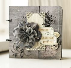 if you love gray scale, this is it! Could be a great wedding or sympathy card