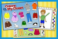 We've put up even more Colors in My Closet activities! This new content provides practice with color recognition, reinforcing this important skill by helping children think about the colors they see in the world all around them.