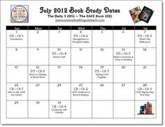 Schedule for a Summer Book Study on The Daily 5 and The CAFE Book