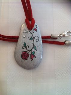 hand painted little pebble stone  $6.5`