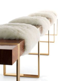 Rosewood, brass, and long-haired Patagonian sheepskin by Azadeh Shladovsky!!!