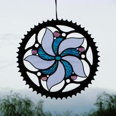 custom stained glass, fused glass, home decor Custom Stained Glass, Stained Glass Birds, Stained Glass Suncatchers, Stained Glass Designs, Stained Glass Panels, Stained Glass Projects, Stained Glass Patterns, Fused Glass, Bicycle Art