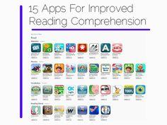 Check out this selection of apps designed to support reading comprehension!