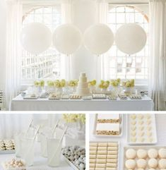 All White Baby Shower Ideas -