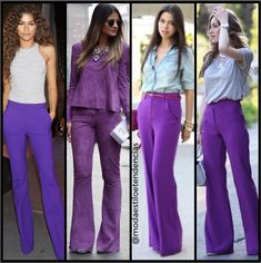 Colour Combinations, Fashion Gallery, Smart Casual, Fashion Ideas, Outfits, Purple Pants Outfit, Colorful Clothes, Spring Looks, Summer Looks