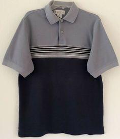 d76bc7312 (eBay Sponsored) Grand Slam Munsingwear Penguin Vintage Polo Size Medium  Knit Gray Striped GUC