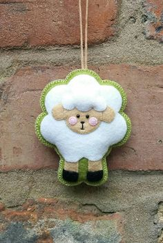 Cute felt easter sheep ornament