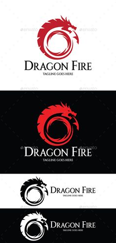 Dragon Fire Logo by graphicsstudio1234 鈥?20AI, EPS 10, CS files 鈥?20CMYK Colors 鈥?20Fully editable 鈥ont used (Free) links included Rate if you Like it *
