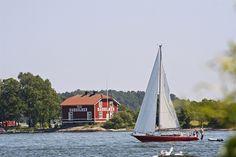 Badholmen outside Vaxholm, Sweden