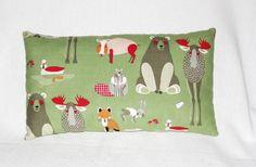 """Kuschel - Kissen """"Tiere des Waldes"""" von Kleinigkeiten aus Stoff - Nützliches & Dekoratives auf DaWanda.com"""