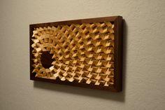 Modern Wood Wall Art Setting Sun by moderngeometrics on Etsy, $200.00
