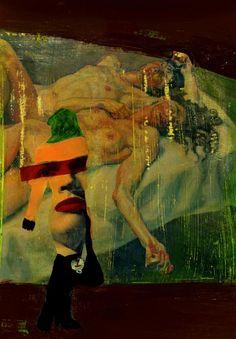 39-ART in PAPER Pintura Mixta Collage Tamaño 30x21 cm Obra de Arte de la Artista Cris Acqua. http://www.crisacqua.com