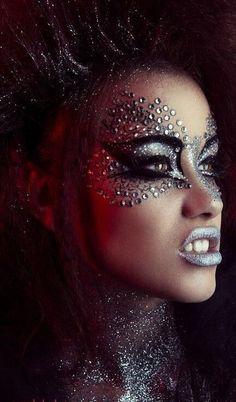 Look flawless – selfsquadMakeupandHair Fairy Fantasy Makeup, Fairy Makeup, Witch Makeup, Halloween Eye Makeup, Eyeshadow Designs, Makeup Designs, Helloween Make Up, Rhinestone Makeup, Makeup Eyes