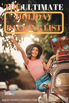 Ultimate holiday packing list with the essential travel items to make your vacation packing easier. These are the most important things to pack when planning a holiday. Holiday Packing Lists, Holiday List, Vacation Packing, Packing Tips For Travel, Travel List, Travel Hacks, Travel Essentials, Travel Must Haves, Travel Items