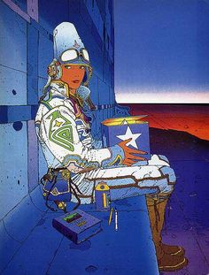 Comic book artist Jean Giraud (aka Moebius) passed away. He was an inspiration to me and many others.