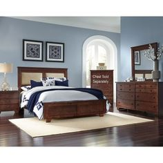The Progressive Furniture Diego Upholstered Panel Bed will grace your bedroom with sophisticated style. Furniture, Brown Furniture Bedroom, Brown Furniture, Bedroom Design, King Bedroom Sets, Bedroom Set, Modern Bedroom, Bedroom Colors, Bedroom