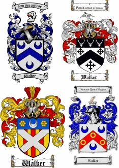 Walker Coat Of Arms Family Crest