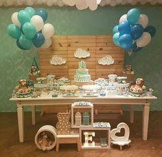 49 New Ideas Baby Shower Boy Bear First Birthdays Baby Party, Baby Shower Parties, Baby Shower Themes, Baby Shower Cakes, Baby Boy Shower, Baby Event, Baby Pop, Diy Party Supplies, Hippie Baby