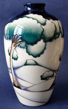 Moorcroft Pottery Winter Trees 22cm in height Limited Edition of 100