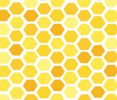 Beehive Grunge - Yellow Hues fabric by friztin on Spoonflower - custom fabric