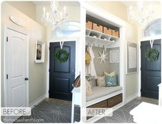 86. Turn Your Coat Closet Into a Functional Nook