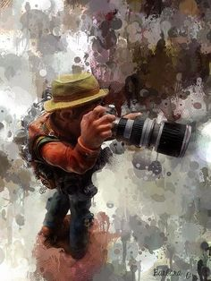The #camera is an instrument that teaches people how to see without a camera..;) Artwork ©Barbara Orenya