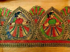 Saree Painting, Mural Painting, Fabric Painting, Hand Painted Sarees, Hand Painted Fabric, Madhubani Art, Madhubani Painting, Traditional Paintings, Traditional Art