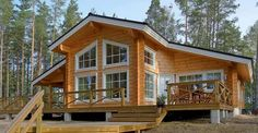 Never Miss This Alluring Log House with Spacious Floor Plan