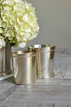 Vintage silver mint julep cups