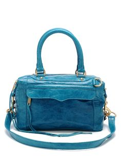 Rebecca Minkoff Morning After Bag Mini in TEAL, $495. Been wearing this bag everyday since I got it! Thought it was too heavy at first, but I'm in love now. It fits such a ridiculous amount of stuff! (got it for $300 at sample sale)