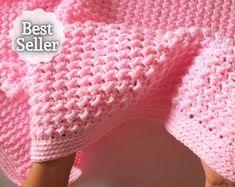 CROCHET PATTERN For the Love of Texture Afghan. Crochet | Etsy Crochet Baby Blanket Beginner, Crochet Baby Blanket Free Pattern, Crochet Blanket Patterns, Free Crochet, Crochet Hooks, Beginner Crochet, Afghan Crochet, Quick Crochet, Crochet Blankets