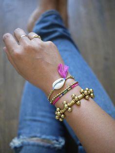 diy shell bracelet