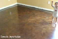 Paper Bag Flooring (done over concrete)