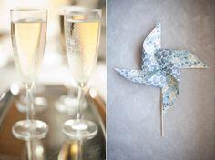 A Chic Turquoise Wedding: Burlap, Pinwheels & Pearls » Favdig