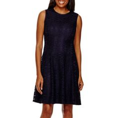 jcp | Tiana B. Sleeveless Lace Fit and Flare Dress