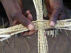 Basketry from Ghana - the start of a Bolga basket