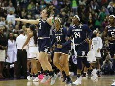 The Notre Dame women's basketball team pulled off the biggest comeback in title game history with its win over Mississippi State, rallying from a 15-point deficit in the third quarter and a five-point deficit in the final 1:58 (via ESPN)