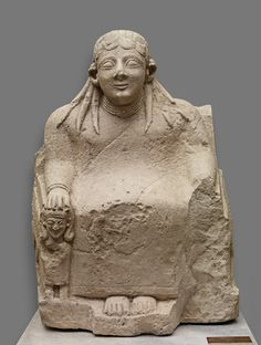 Thronende Göttin (Astarte?); Zyprisch, Eisenzeit, archaisch, 1. Hälfte 6. Jh. v. Chr. | Kunsthistorisches Museum Wien