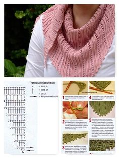 Zig Zag Crochet, Diy Crochet, Crochet Diagram, Crochet Chart, Crochet Scarves, Crochet Clothes, Knitting Patterns, Crochet Patterns, Yarn Cake