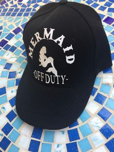 Iron-on Mermaid Off Duty Vinyl Decal | Coffee Cup Decal | Canvas Decal | Fun Decor' Decal | Sticker| Yeti Decal| Coastal Decor' Deca - $3.60 USD