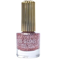 Floss Gloss The Pink Nugget Glitter Nail Polish ($10) ❤ liked on Polyvore featuring beauty products, nail care, nail polish and shiny nail polish