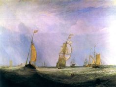 The City of Utrecht, 64, Going to Sea (also known as Helvoetsluys) Joseph Mallord William Turner - 1832