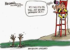 Political Cartoons of the Week: Republican Lifeguard