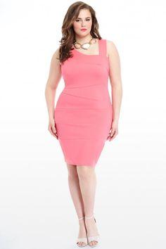 Plus Size Andreanna Asymmetric Dress | Fashion To Figure