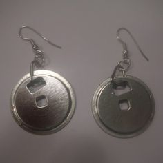 Earrings made from floppy disk parts!