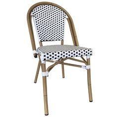 Our Paris Wicker Outdoor Cafe Chair borrows it attractive look from French designers. The UV protected synthetic wicker makes this chair hold up beautifully in outside locations. It's also very simple to keep clean. Function and comfort in one sharp chair. The brown frame of the chair is made of durable aluminum. This model is also conveniently stackable.