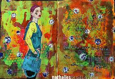 Wear It...or ArtJournal Page - can you spot the *n Studios Stamps NathalieKalbach  designed for #Stampendous here?