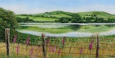 Summer Reflections - Alison Holt - machine embroidery